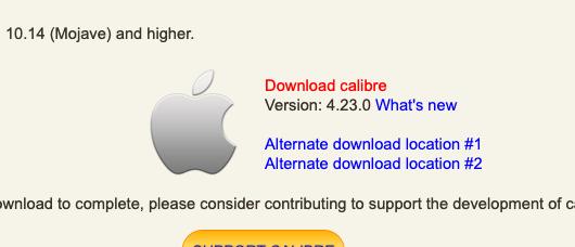 Detalle para descargar Calibre