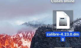 Paquete de instalación de Calibre en macOS
