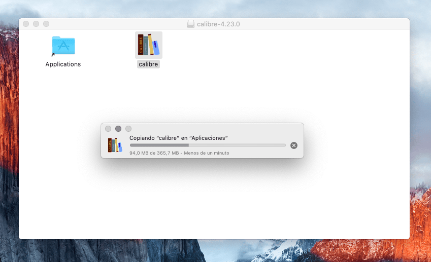 Instalación de Calibre en macOS